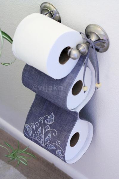 Своими руками из ткани для туалетной бумаге