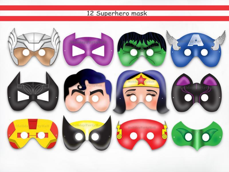 Как сделать маску супергероев из бумаги