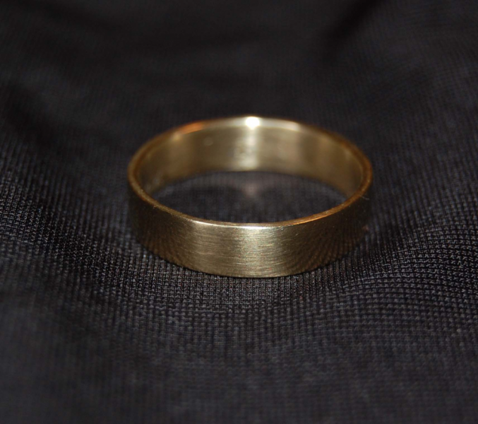 A Little, Little Bit of Heart Gold Wedding Band