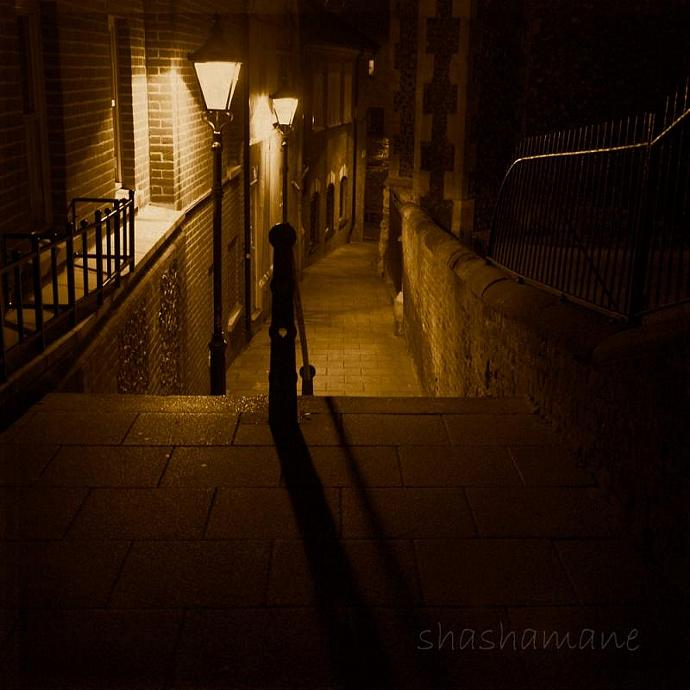 "As I walk these lonely streets - Moody and haunting 5 x 5"" fine art photography"