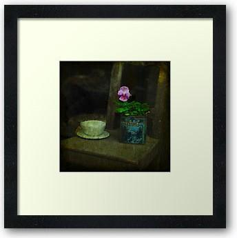 "Farine ... the flower in the flour - Square 8 x 8"" fine art photography print"