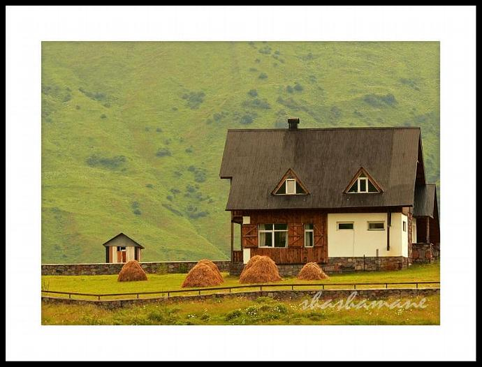 "Dream home  8x10"" Fine art Photography print. Beautiful house and mountains"