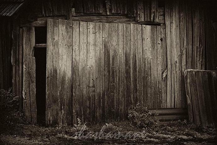 "Rural and rustic Slovenia 1 - set of 3 sepia 5 x 7"" fine art photography prints"