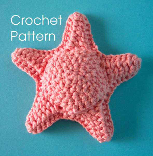 Starfish  Tawashi Scrubber PDF crochet pattern