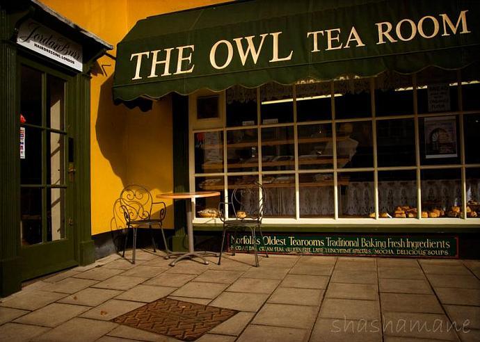"The Owl Tea Room 5x7"" fine art photography print"