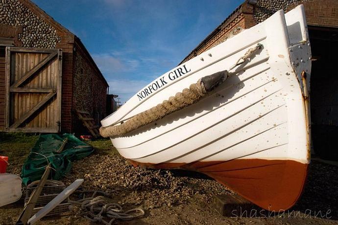 "Norfolk Girl 8x12"" fine art photography print, fishing boat"