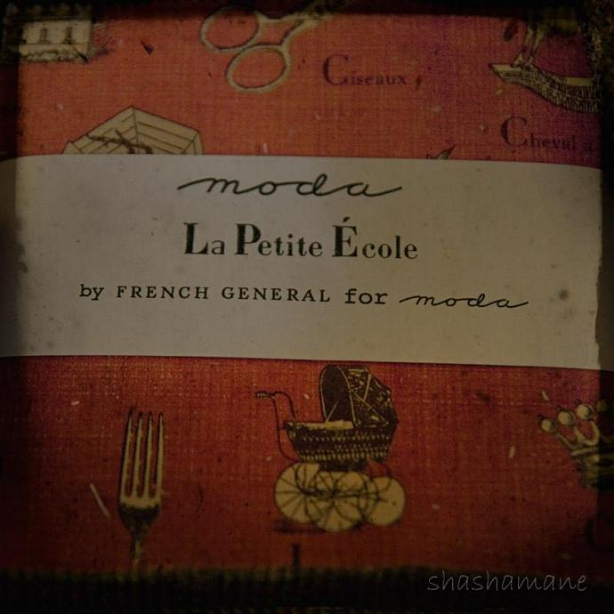 "La Petite Ecole - Moda fabric design as 8x8"" fine art photography print with TTV"