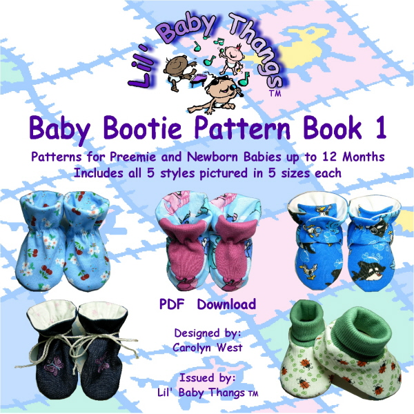 Baby Bootie Pattern Book 1, PDF Download