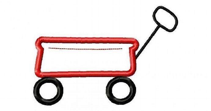 Wagon Applique Machine Embroidery Design