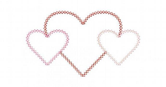 Heart Trio Applique Machine Embroidery Design