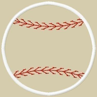 Baseball 2 Applique Embroidery Design