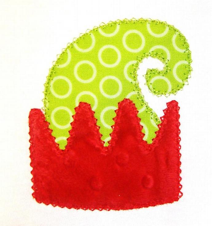 Elf Hat Applique Machine Embroidery Design
