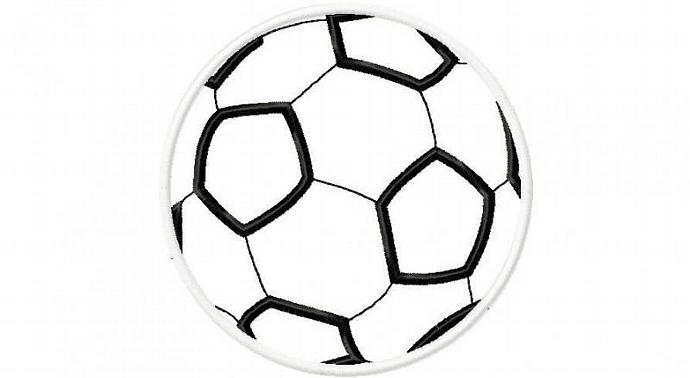 Soccer Ball Applique Machine Embroidery Design