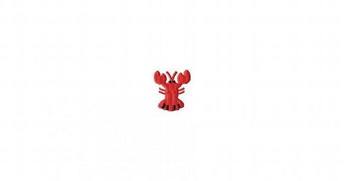 Lobster MINI Filled Stitch Machine Embroidery Design