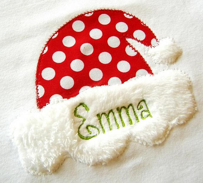 Santa Hat applique machine embroidery design