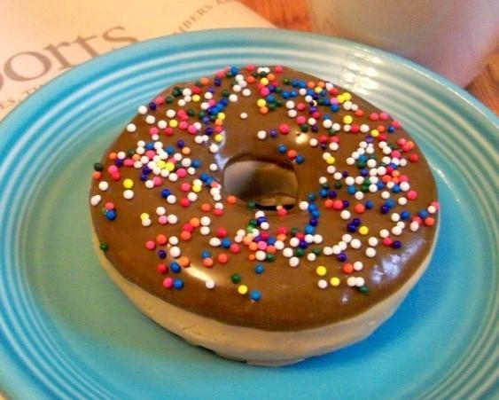 Chocolate Donut Soap With Sprinkles - Life Sized - Gift Ready - VEGAN