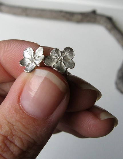 Sterling Forget Me Not Earrings - Ready to Ship