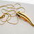 Vintage Monet 14k GP Long Pendant Necklace 28 in.