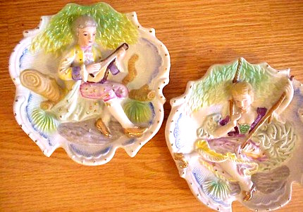 Vintage Porcelain Wall Plaques set of 2