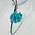 Elephant earrings skyblue - glass figurines