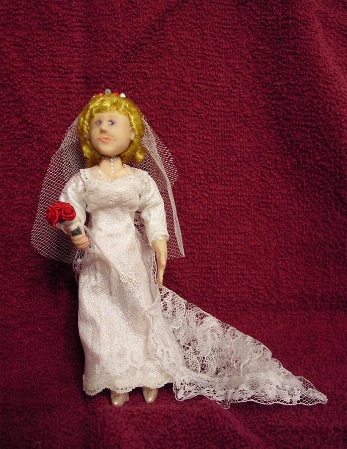 Rose, A One Inch Scale Bride Doll