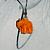 Elephant earrings orange - glass figurines
