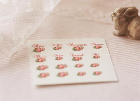 Dollhouse Miniature 1/12 Scale – Kitchen Canister Labels Set 1