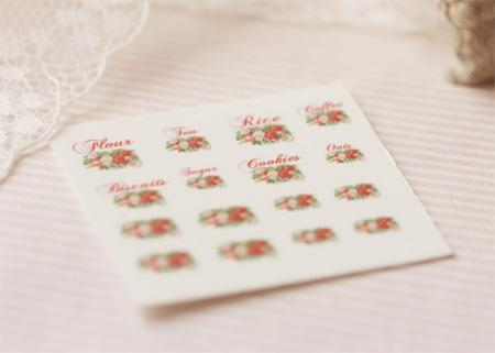 Dollhouse Miniature 1/12 Scale – Kitchen Canister Labels Set 4