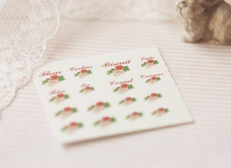 Dollhouse Miniature 1/12 Scale – Kitchen Canister Labels Set 6