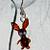 Bunny earrings glass jewelry