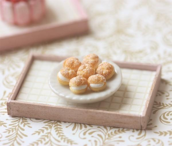 Dollhouse Miniature 1/12 Scale Cream Puffs
