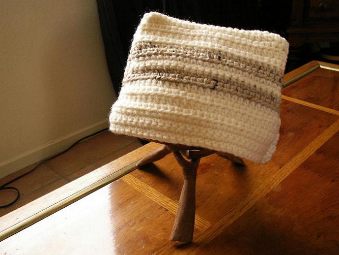 OOAK - military dress hat inspired hand crochet kids cap