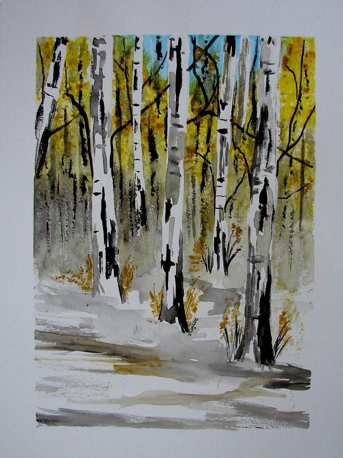 Seasons Changing -Original Watercolor Painting