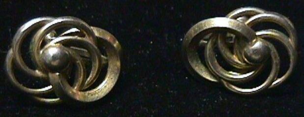 Vintage -  Vintage Art Deco Style Screwback Earrings