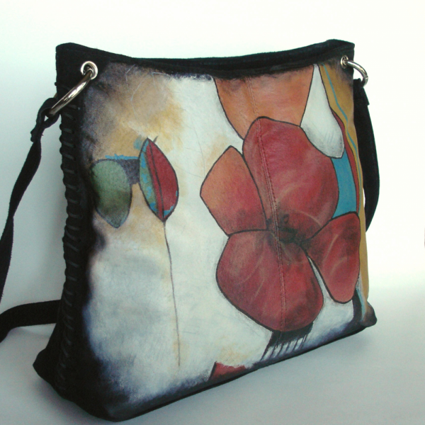 FULL BLOSSOM ~ ~ Hand Painted Purse