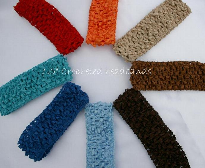 "1.5"" CROCHETED HEADBANDS"