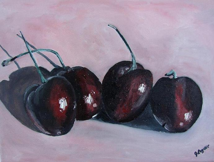 Mon Cherry - Original Oil Painting