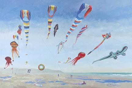 """Kites Aloft"" Giclee Canvas Print by Carol Thompson"