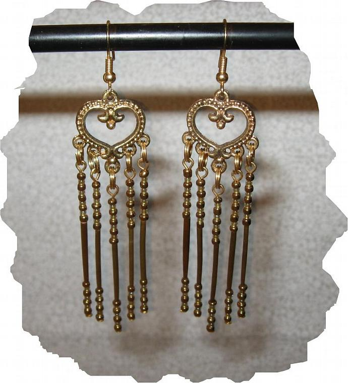 NEW! Black & Gold Porcupine Quill & Glass Bead Earrings