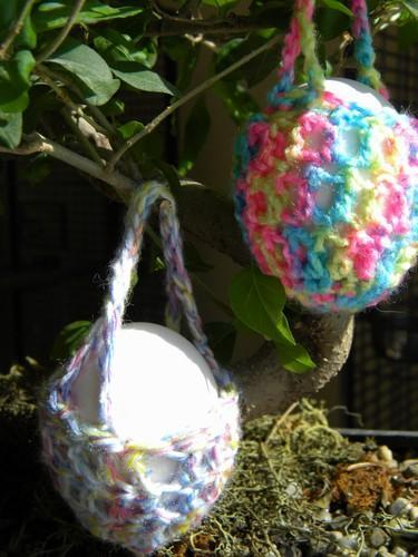 Easter Egg Cozy Baskets - Multi-Colored - Set of 3
