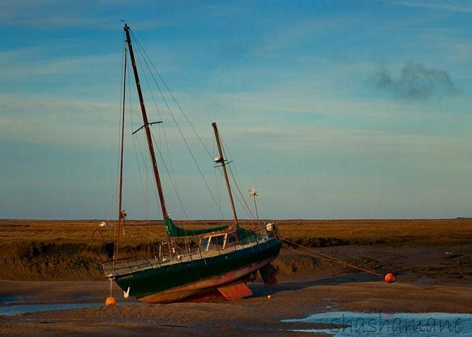 "The sleepy boat 5 x 7"" fine art photography print."