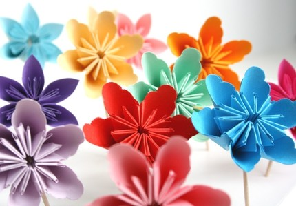 You Choose 12 Millalove Paper Flower Cupcake Toppe