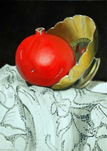 Pomegranate and pot