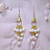 White Waterfall Earrings