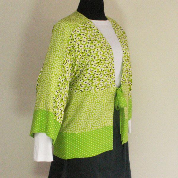Lime Green Kimono Style Jacket - Size S, L