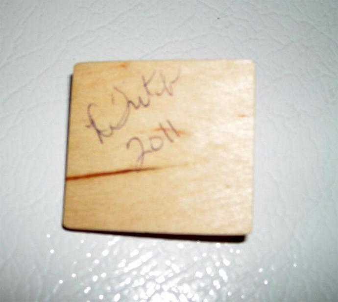 One Inch Dollhouse Scale Orange Gelatin Preparation Board