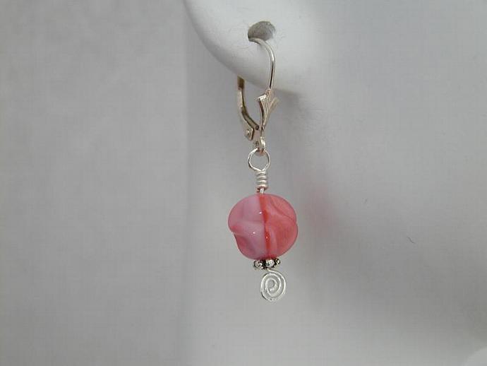 Handcrafted Pink Czech Earrings