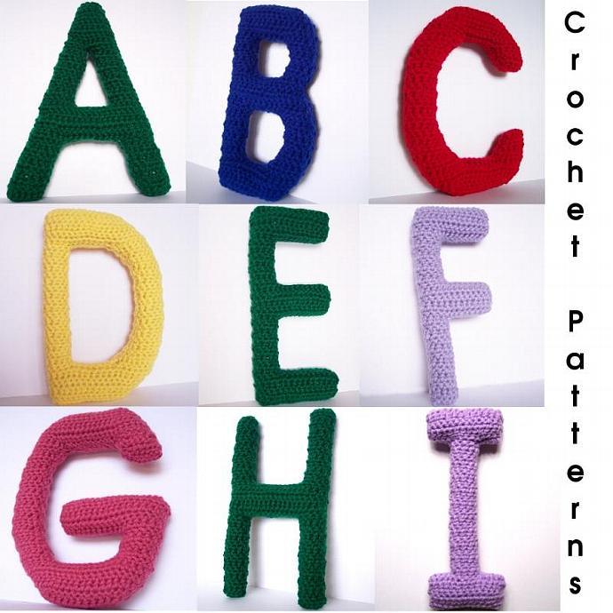 Complete Alphabet Letter Crochet Pattern Set
