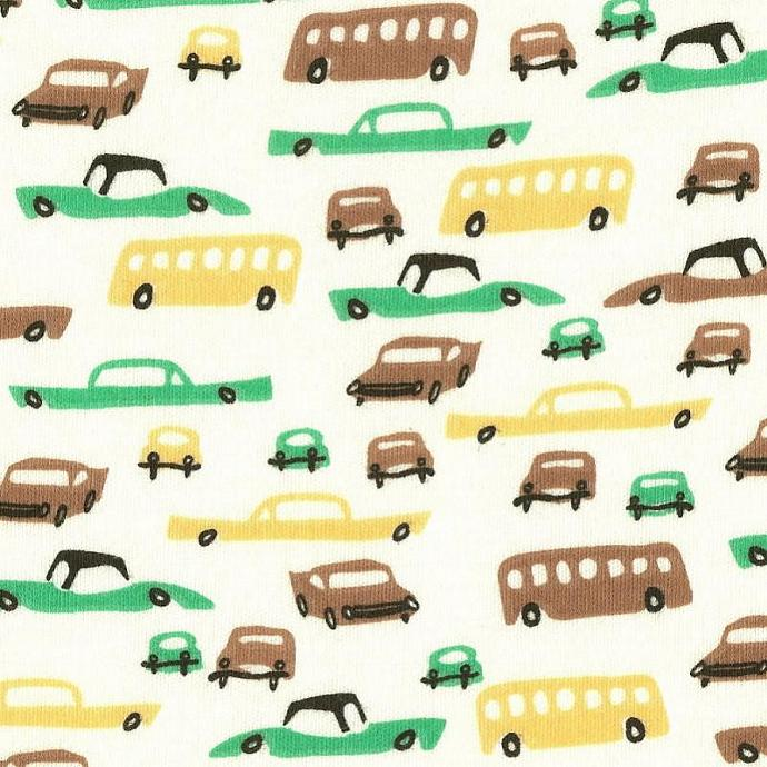 ReTRo CLaSSiC CaRS, Cotton Interlock Knit Fabric, by the yard