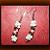 Dangling Twisted Troca Shells Rice Bead Earrings